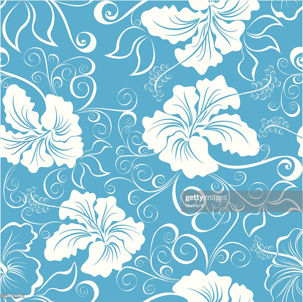 Seamless Hawaiian Floral Pattern High Res Vector Graphic Getty