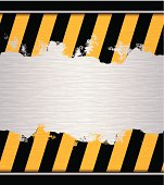 seamless hazard warning adhesive tape on metallic plate
