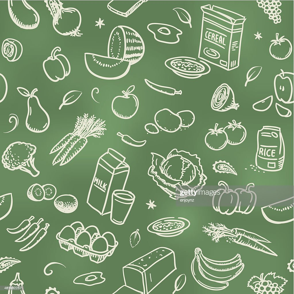 Seamless Healthy Food Background High Res Vector Graphic Getty Images