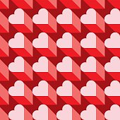 Seamless Heart Pattern. Ideal for Valentine's Day Wrapping Paper.
