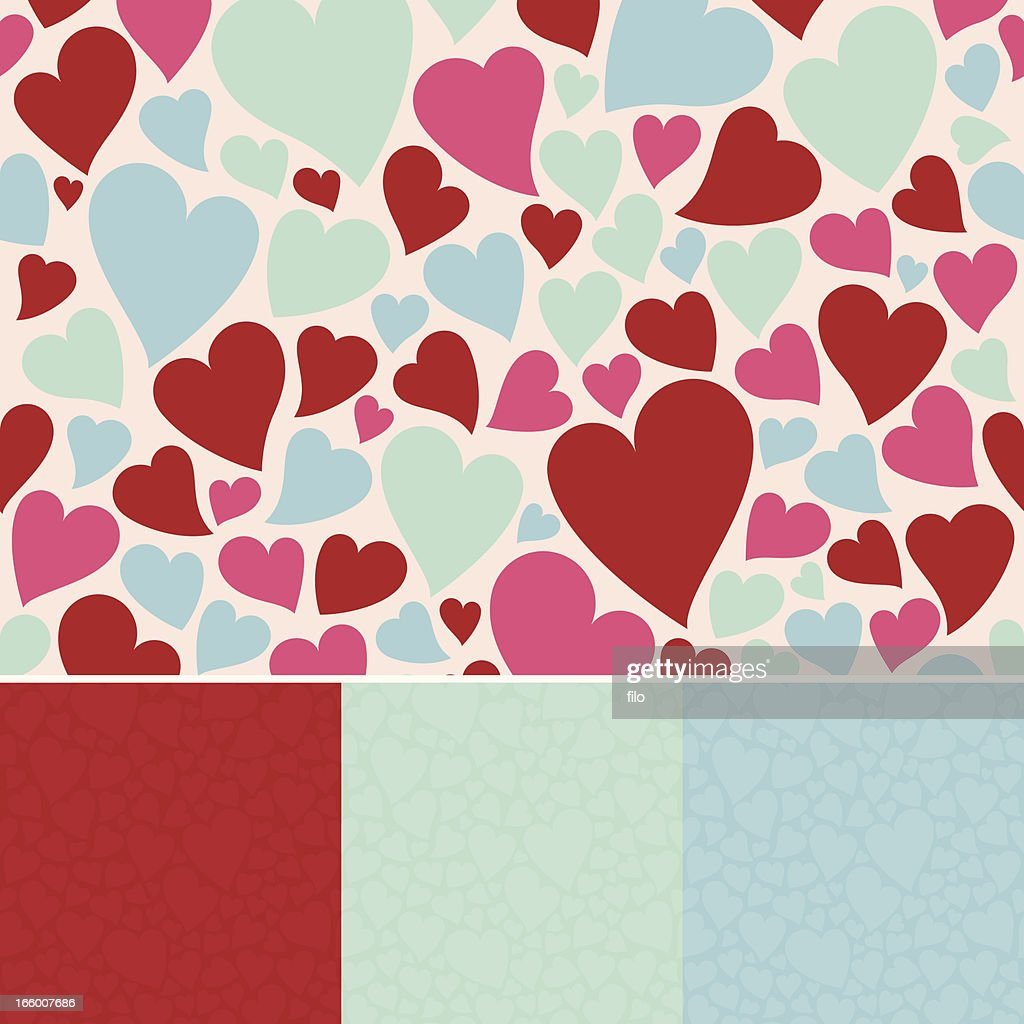 Seamless Hearts Background : Vector Art