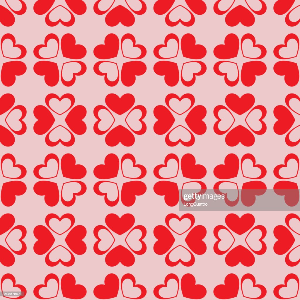 Seamless hearts background : Vectorkunst