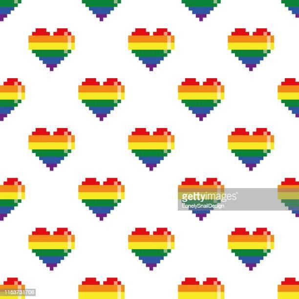 シームレスハーツ - 同性愛者点のイラスト素材/クリップアート素材/マンガ素材/アイコン素材