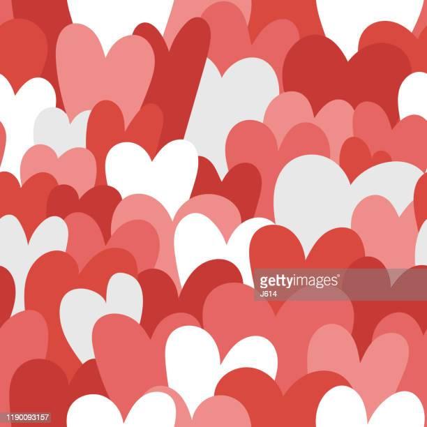 seamless hearts - february stock illustrations