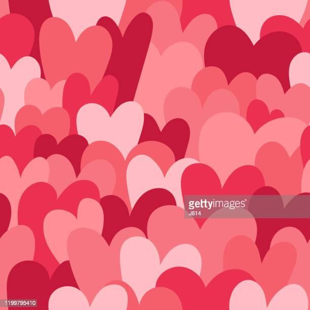 seamless hearts - valentine card stock illustrations