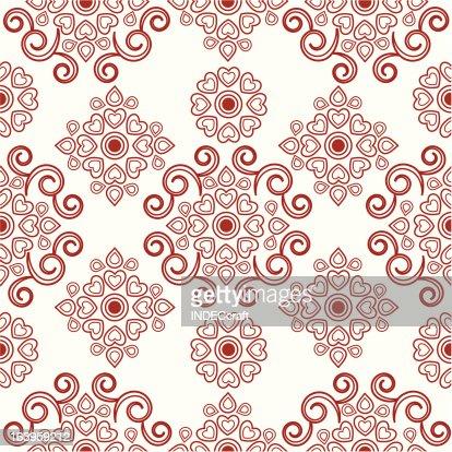 Seamless Henna Flower Design Vector Art Getty Images
