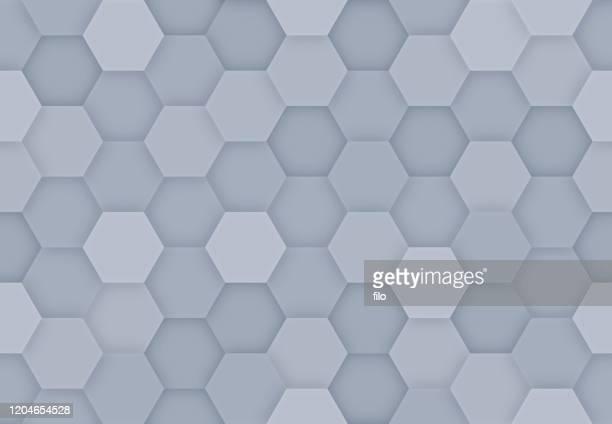 seamless hexagonal background - digital composite stock illustrations