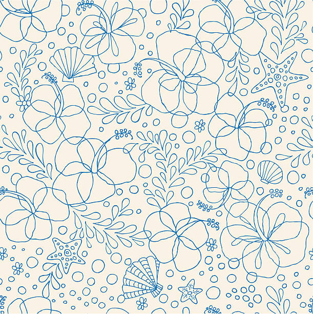 Seamless Hibiscus Floral Pattern