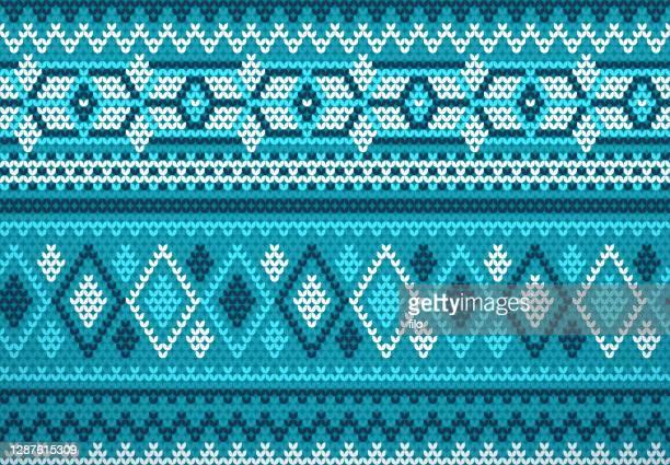 seamless holiday sweater background knit fabric pattern - cardigan sweater stock illustrations