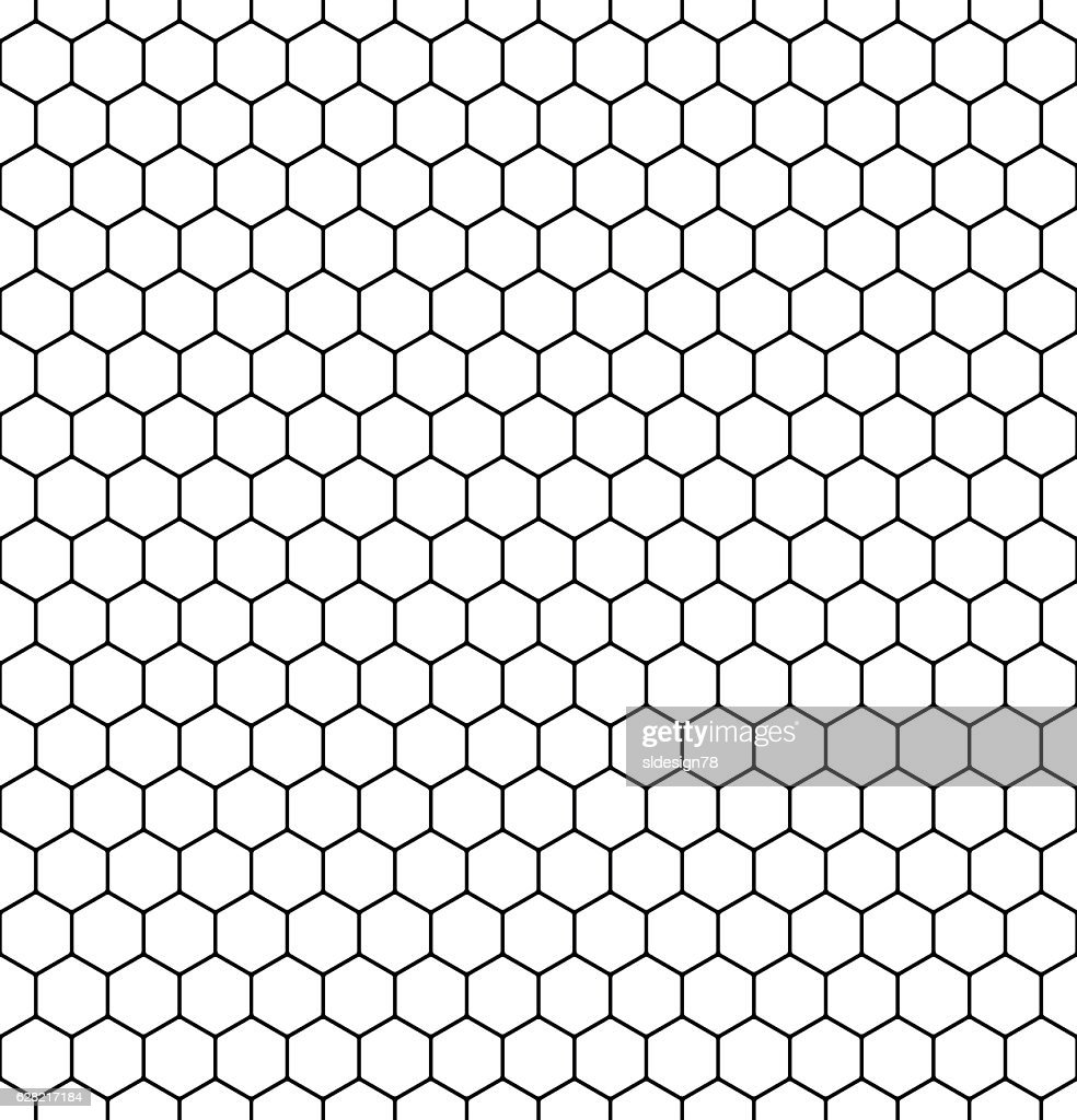 Seamless honeycomb pattern. Vector.