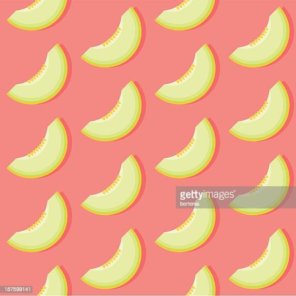 Seamless Honeydew Melon Pattern