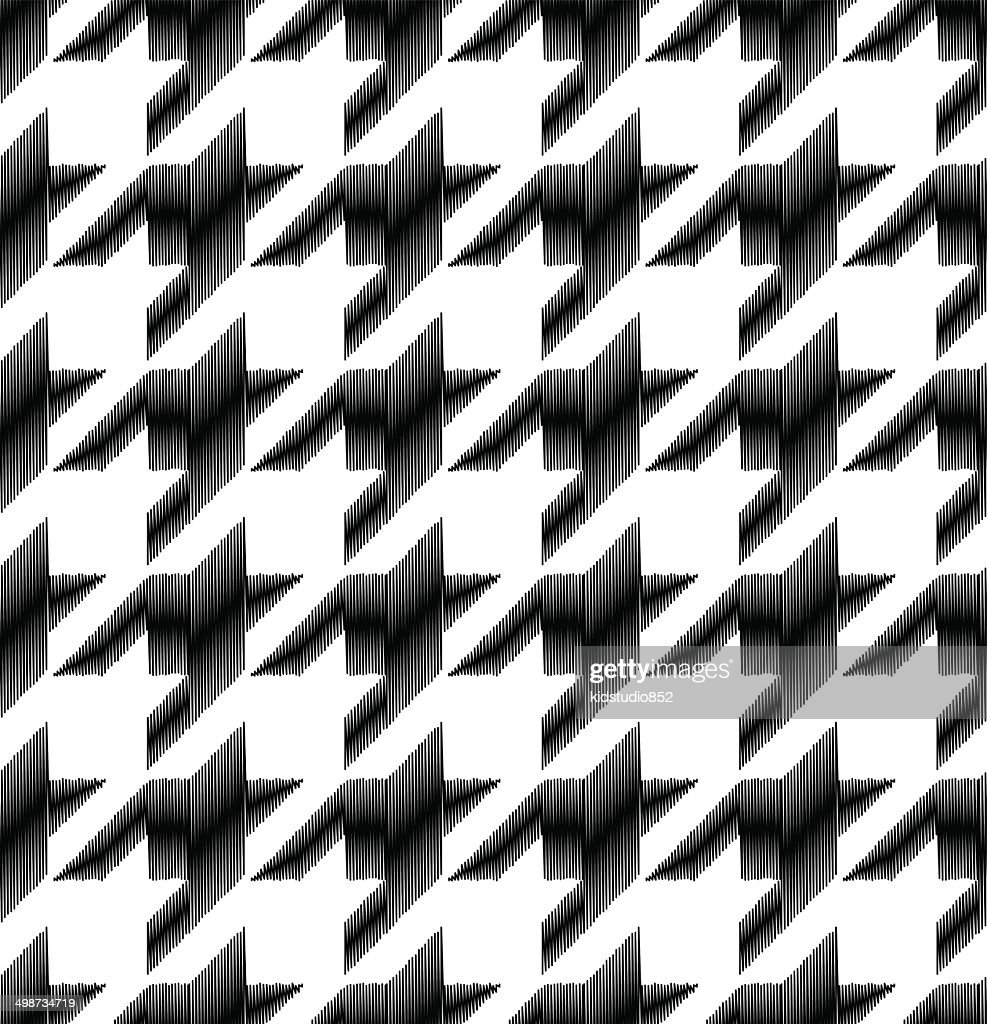 seamless houndstooth checkered pattern
