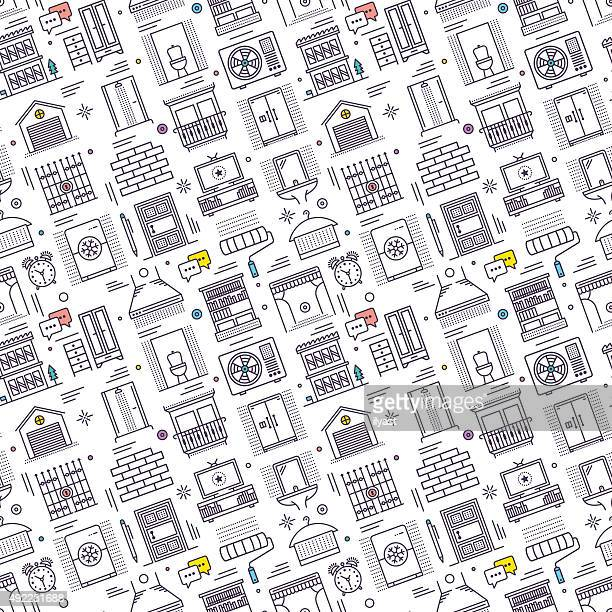 Seamless Housework Pattern
