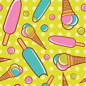 Seamless ice cream wallpaper background