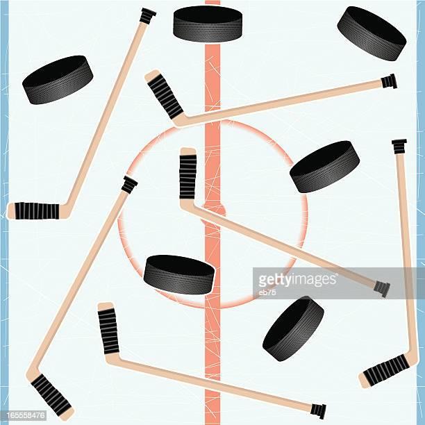 seamless ice hockey background - center ice hockey player stock illustrations