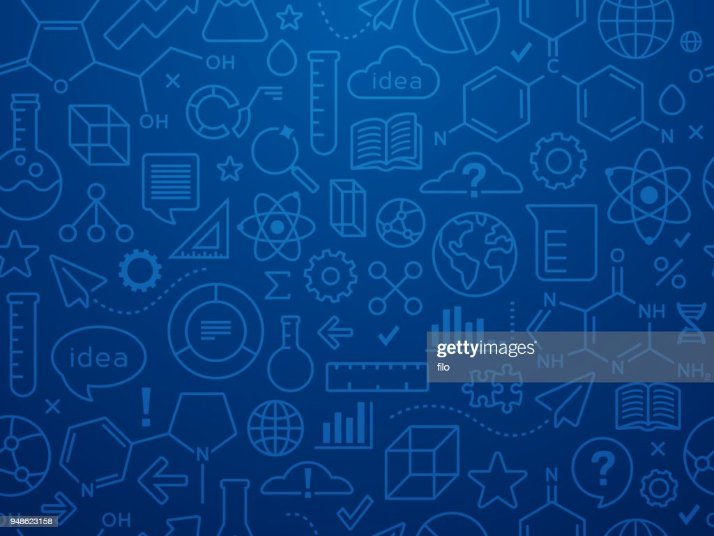 Seamless Innovation And Scientific Data Background Vector Art Simple Circuit Diagram Symbols