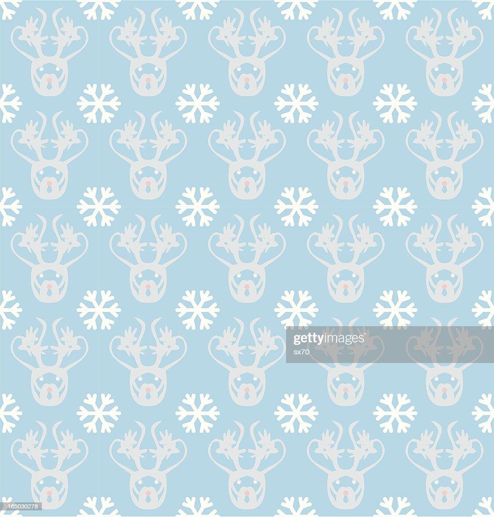 Seamless Inuit Reindeer Wallpaper ( Vector )