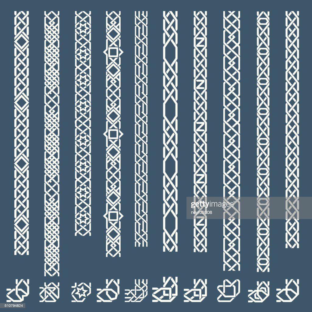Seamless islamic ornamental borders