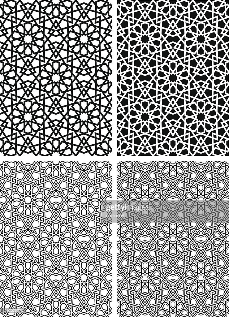 Seamless Islamic star pattern