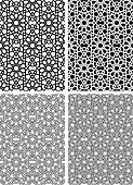 Seamless Islamic star pattern