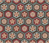 A seamless Japanese floral pattern