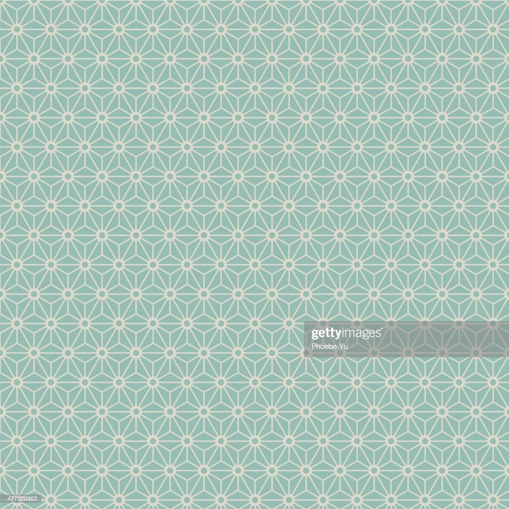Seamless Japanese style geometry flower pattern.