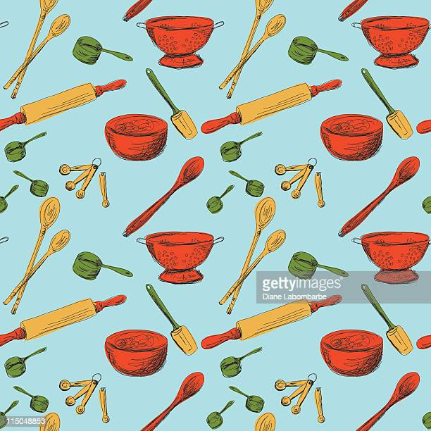 Seamless Kitchen Gadgets Pattern