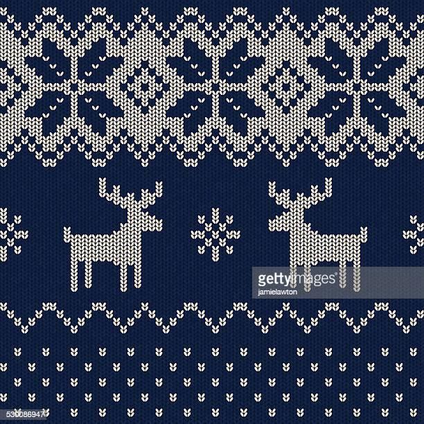 Nahtlose Weihnachten Muster gestrickt