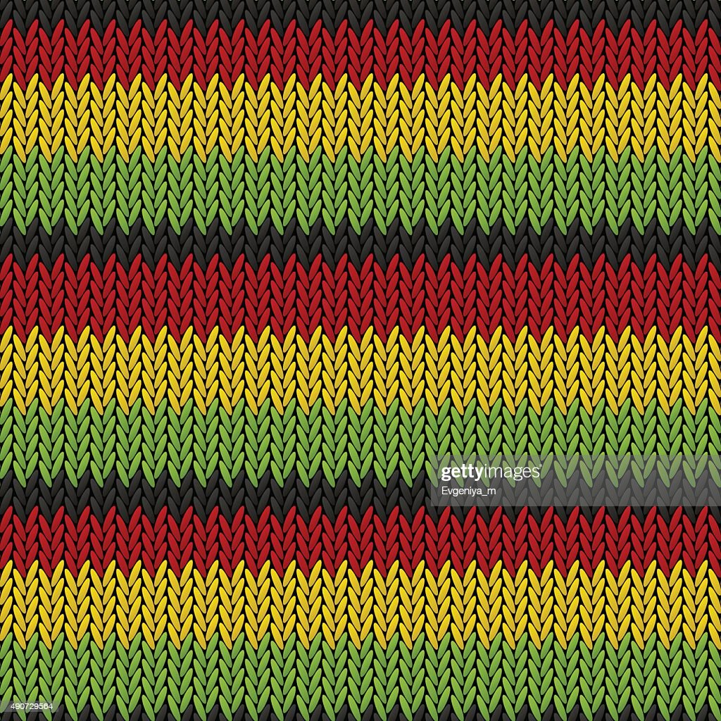 Seamless knitted reggae pattern for Your design