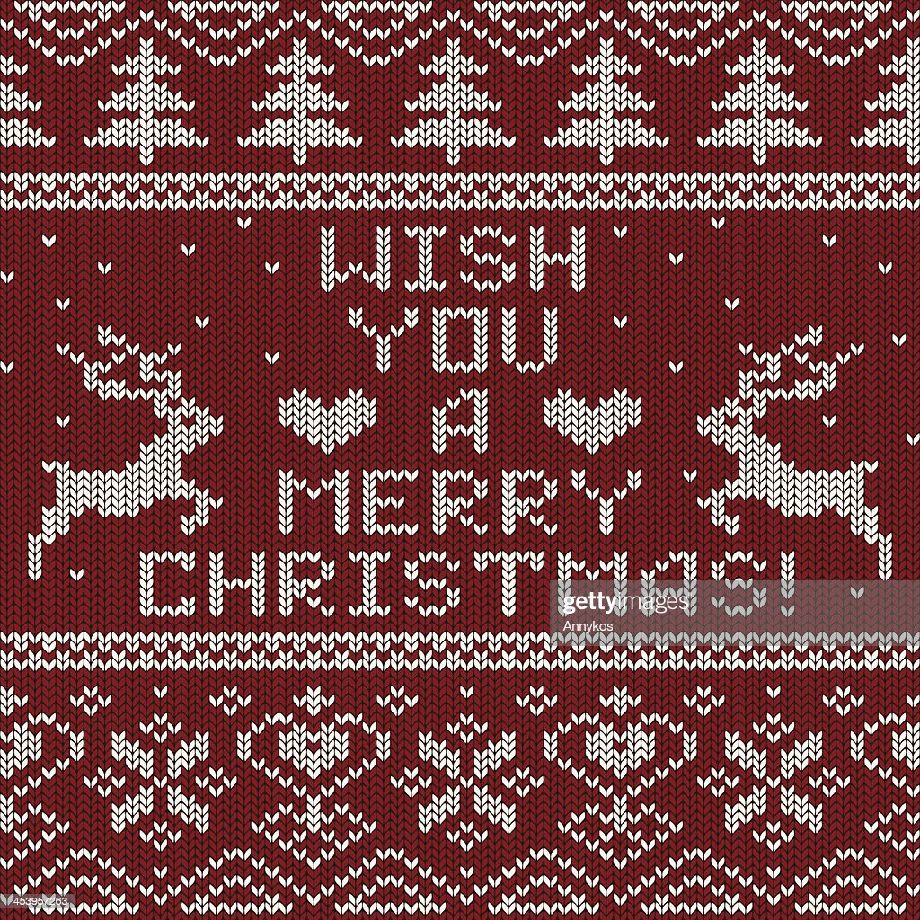 Seamless Knitted Scandinavian Pattern For Christmas Sweater Vector ...