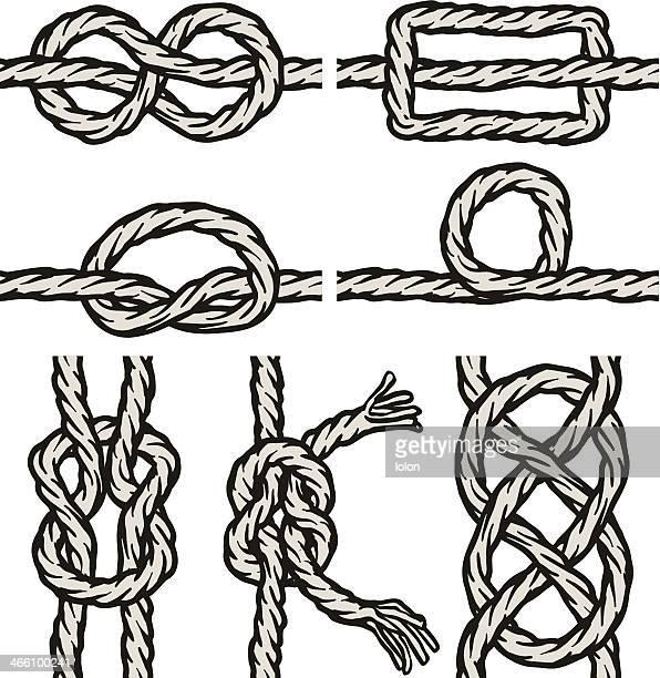 seamless knots - braided hair stock illustrations, clip art, cartoons, & icons