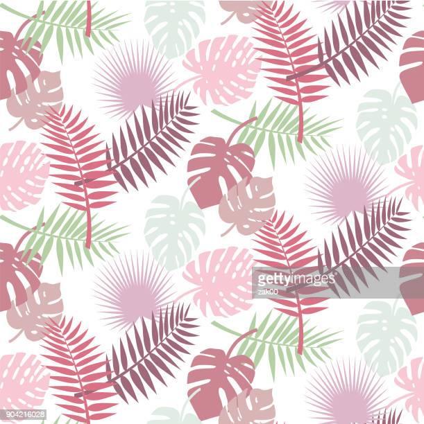 シームレスな葉の背景 - リーフ柄点のイラスト素材/クリップアート素材/マンガ素材/アイコン素材