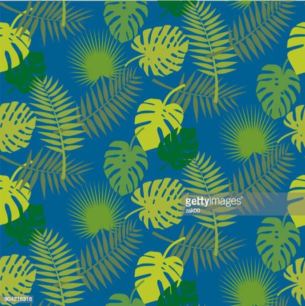 ilustraciones, imágenes clip art, dibujos animados e iconos de stock de fondo de hojas - hoja de palmera