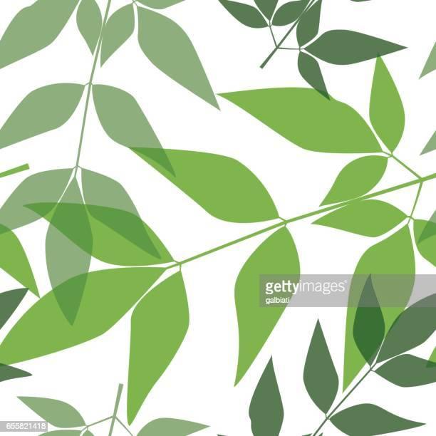 シームレスな葉パターン 8 - リーフ柄点のイラスト素材/クリップアート素材/マンガ素材/アイコン素材
