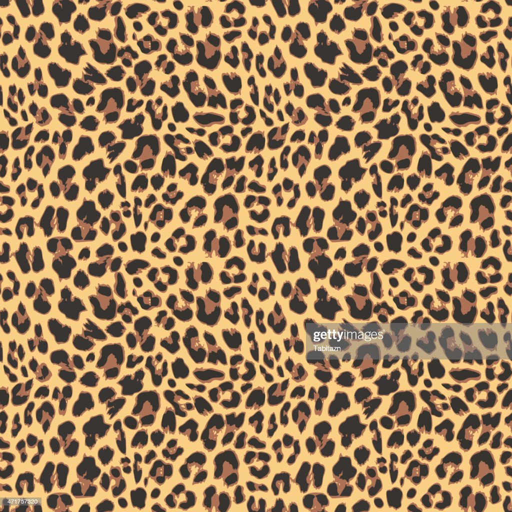 Seamless leopard pattern background design