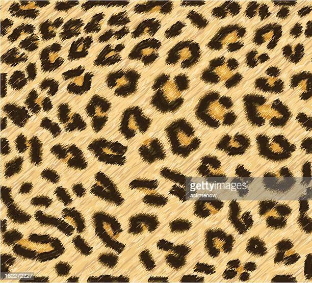 seamless leopard skin pattern - animal stock illustrations
