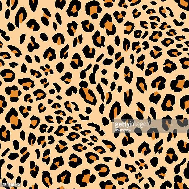 seamless leopard skin pattern - animal body part stock illustrations