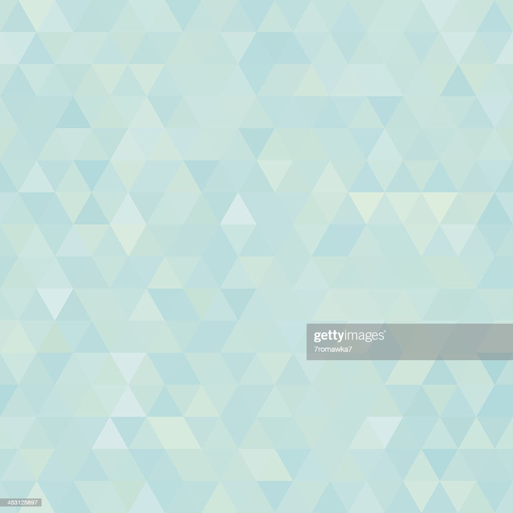Seamless light blue abstract triangles background