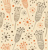 Seamless light floral pattern. Abstract background with flowers