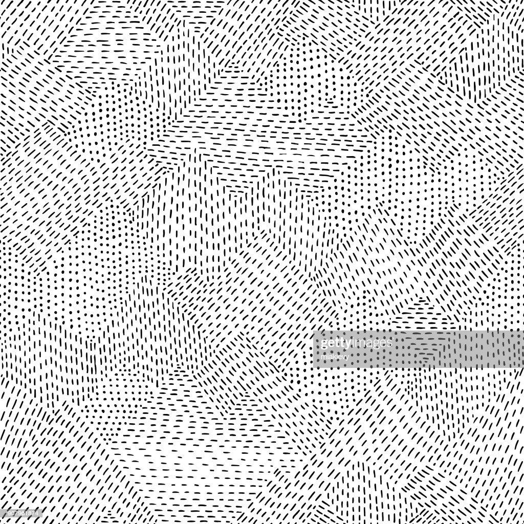 Seamless line hand drawn pattern