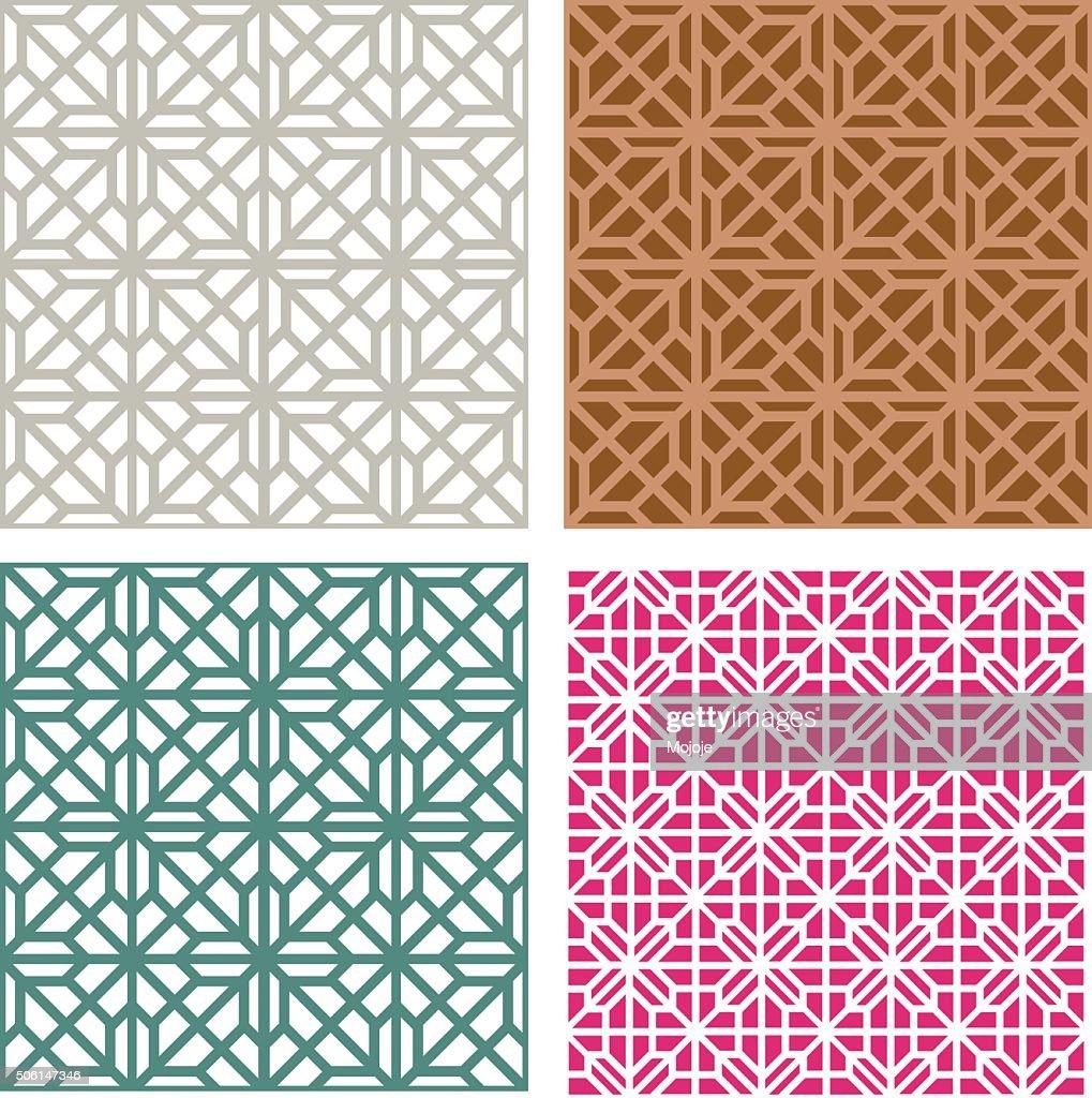 Seamless line pattern in modern korean style