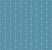 Seamless Linear Flourish Pattern for Retro Design.