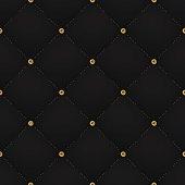 Seamless luxury dark black pattern and background with blue diamond
