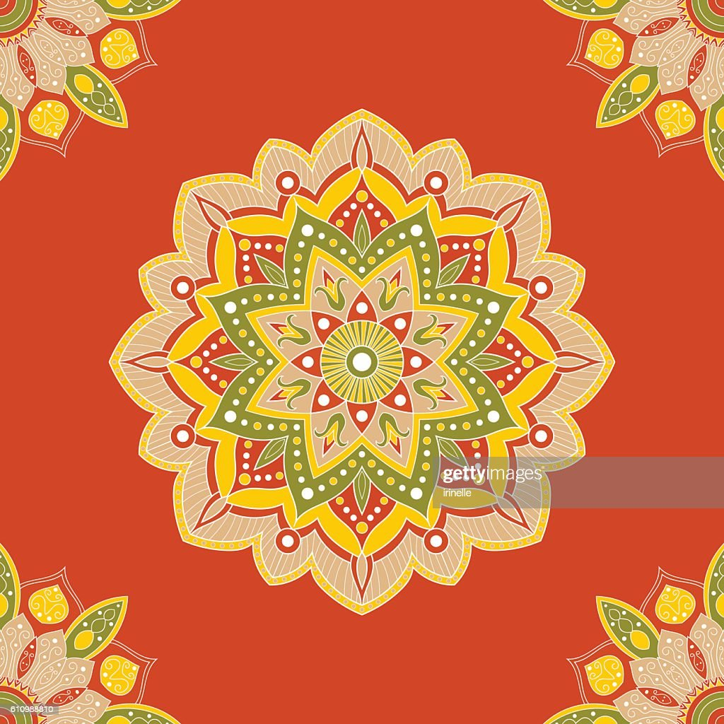 Seamless mandala pattern for wrapping paper, fabric or wallpaper