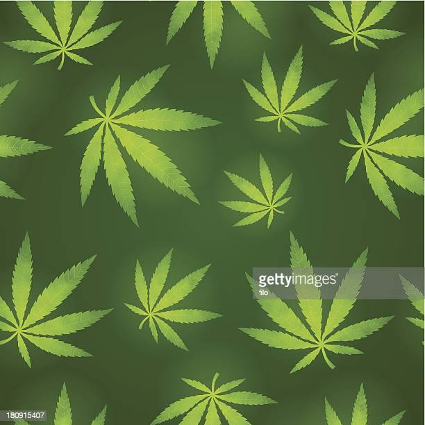 Seamless Marijuana Background