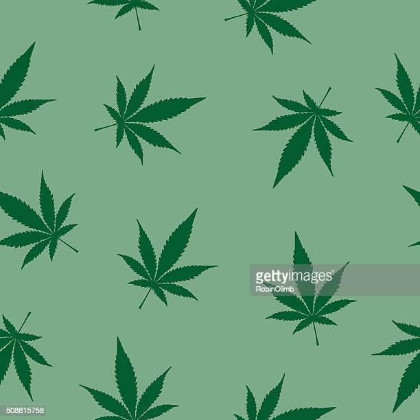 seamless marijuana pattern - cannabis plant stock illustrations, clip art, cartoons, & icons