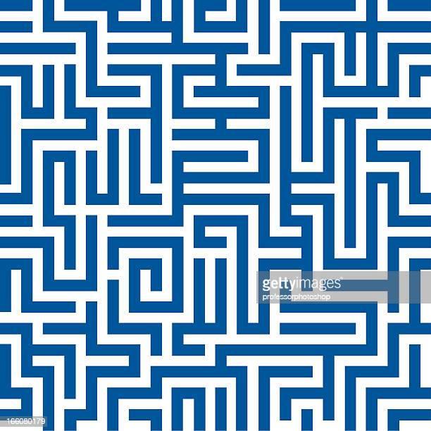 illustrazioni stock, clip art, cartoni animati e icone di tendenza di motivo labirinto seamless - intrico