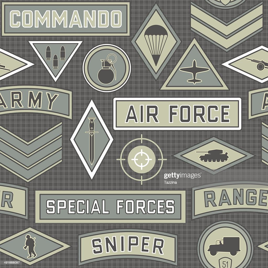 seamless military pattern 09