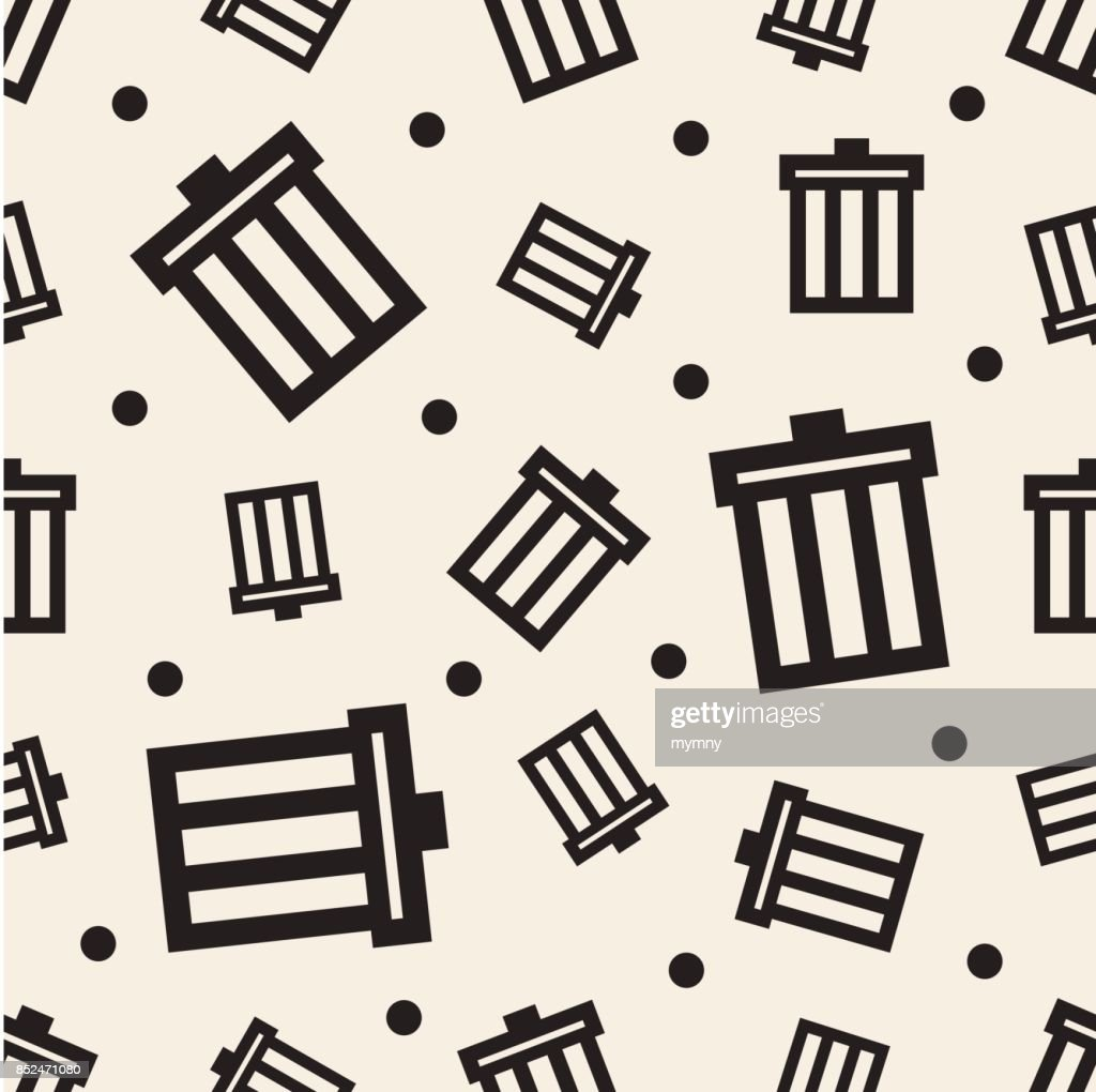 seamless monochrome bin pattern background