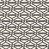 seamless monochrome clothe hanger pattern background